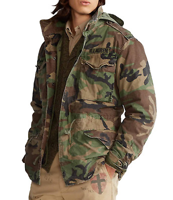 $378 • Buy POLO RALPH LAUREN Men's Camouflage M65 Combat With Liner Field Jackets XL NWT