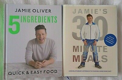 AU37.95 • Buy Jamie Oliver 5 Ingredients Quick&Easy Book HC 2010&Jamies 30 Minute Meals HC2017