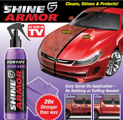 $35.95 • Buy 2pcs,Shine Armor Fortify Quick Coat Ceramic Coating Car Wax Spray And Waterless