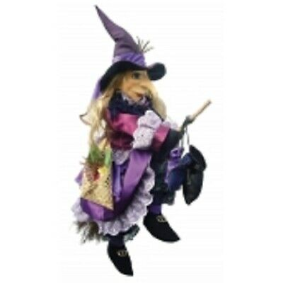 £33.50 • Buy Witches Of Pendle  Lucinda  Flying Witch Purple 40 Cms Info Book Pagan/ Witch