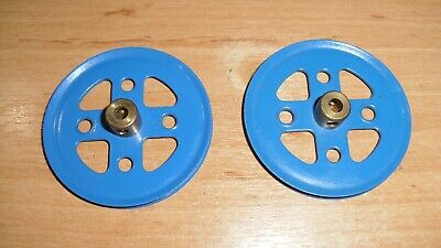 Meccano Two Pulley With Boss 2 Inch 5 Cm Used • 3£