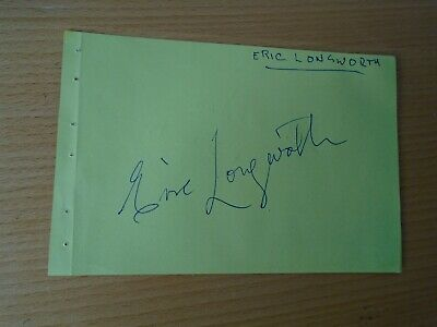 £54.99 • Buy Eric Longworth  Dads Army Genuine Signed Authentic  Autograph - UACC / AFTAL.