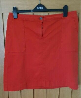 £12 • Buy Boden Chino A-line Skirt, Orange Red Size 16 L , Used