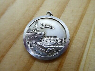 Large Sterling Silver Georg Jensen St Christopher Double Sided Car Plane Boat • 89.99£
