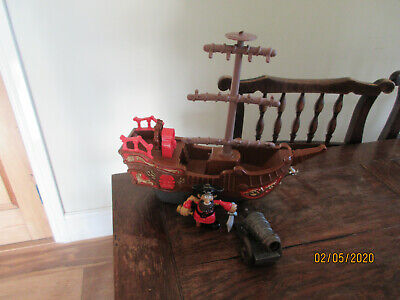 £12.99 • Buy Pirate Ship Wheels Rigging Mast Play Figures Cannon Sounds Button Steering Wheel