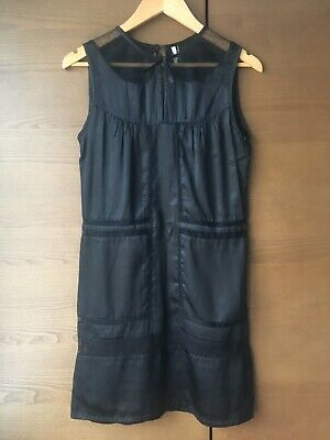 Topshop Silk Sleeveless Shift Dress With Lace Sections - UK Size 8-10 • 10£