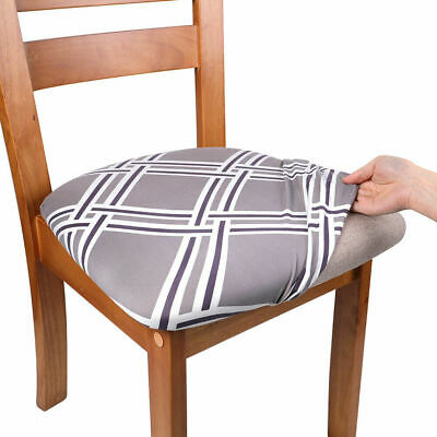 £9.99 • Buy ANMINY 4PCS Dining Chair Seat Covers Stretchable Cushion Protective Slipcovers