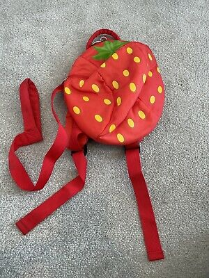 George Toddler Back Pack With Reins Strawberry  • 0.99£