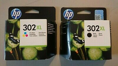 Genuine HP 302xl Ink Cartridges Black And Tri Colour Brand New Twin Pack • 45.99£