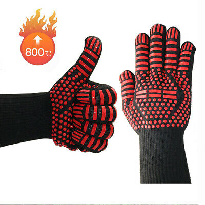 £6.12 • Buy 1Pc/Pack Heat Resistant Oven Gloves Heat Proof Silicon Mitts For Cooking Baking