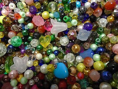 £2.49 • Buy Pack Of Random Mixed Assorted Beads, Approx 50g For Jewellery Making DIY Costume