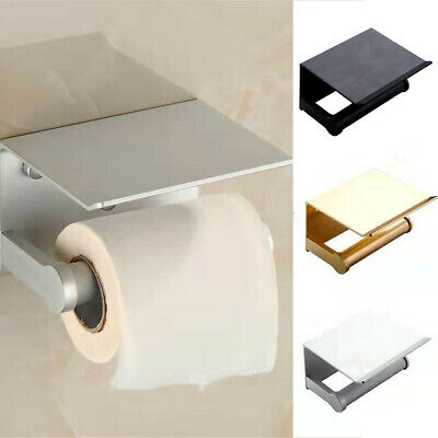 AU24.41 • Buy Wall Mounted Toilet Paper Phone Holder Rack Tissue Roll Stand New