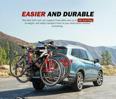 AU227.99 • Buy SAN HIMA 4 Bicycle Bike Rack Rear Car Carrier Hitch Mount 2  Towbar Foldable