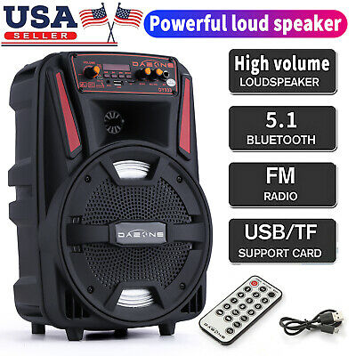 $42.99 • Buy 8  1000W Portable FM Bluetooth Speaker Subwoofer Heavy Bass Party System AUX USA