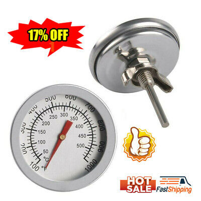 £2.41 • Buy BBQ Barbecue Grill Steel Temperature Thermometer Gauge 50-500℃ NEW
