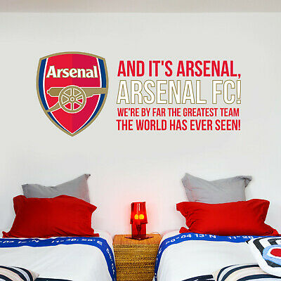 £19.99 • Buy Arsenal FC Greatest Team Song And Crest Wall Sticker + Arsenal Decal Set