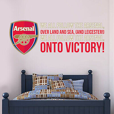 £19.99 • Buy Arsenal FC Onto Victory Song And Crest Wall Sticker + Arsenal Decal Set