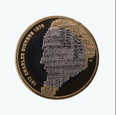 Charles Dickens 2 Pound Coin 2012 • 3£