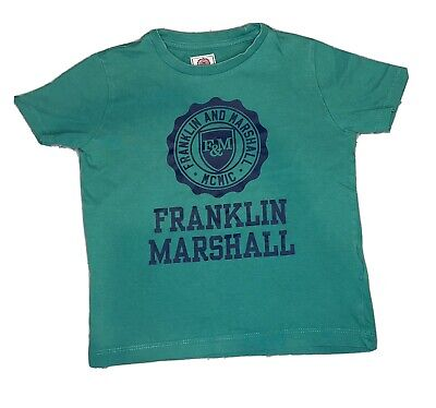Boys 3-4 Years Franklin Marshall Top - Green  • 2.99£