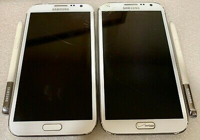 $ CDN50.12 • Buy Lot Of 2 - Samsung Galaxy Note II - White - Smartphones - FOR PARTS!!!