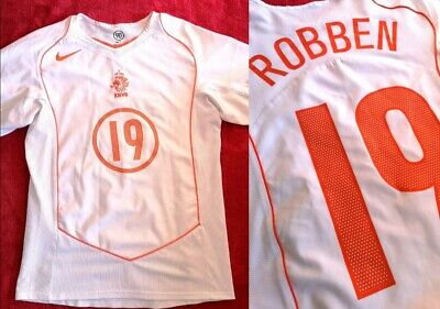 Nike Netherland National Team Nr.19 Robben 2004/05 Away Shirt S 173cm. Rare  • 30£
