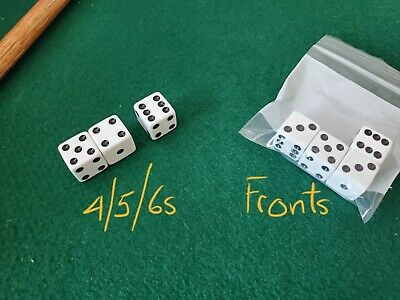 £432.82 • Buy **SEE VIDEO** Weighted 16mm Dice Set 456s Loaded Dice Cee Lo