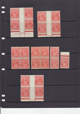 AU26 • Buy KGV Heads Collection Of Mint Blocks Etc 2d Red & Brown Small Multi Wmk. Seconds