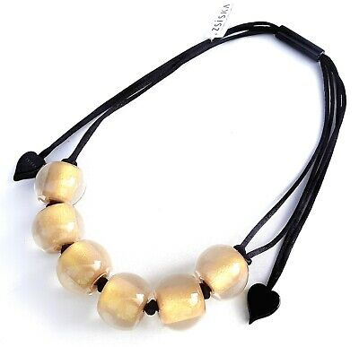 AU50.40 • Buy ZSISKA 'Colourful Beads Collection' Beautiful 6 Golden Bead Necklace