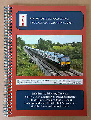 £10.95 • Buy Locomotives / Coaching Stock & Unit Combined 2021, AEB Rail, Spiral Bound