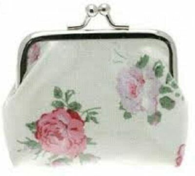 £2.99 • Buy Forever England Pink Roses Ladies Laminated Canvas Coin Purse By Melissa Rose