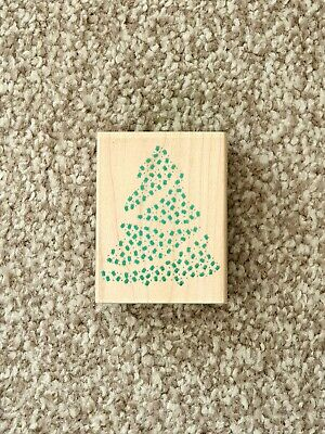 £3 • Buy Stamp It 'Star Christmas Tree' Wooden Block Rubber Stamp - Very Good Condition