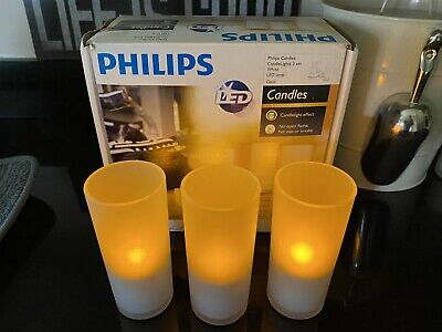 £50 • Buy Philips Imageo Rechargeable Candle Lights (set Of 3 With Induction Charger Base)