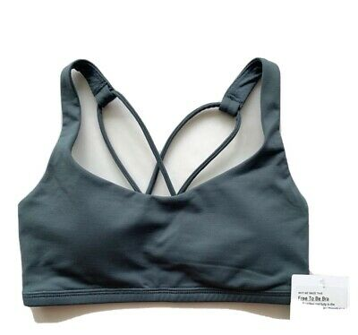 $ CDN58.23 • Buy NWT Lululemon Free To Be Bra Sea Steel Grey Green Size 12