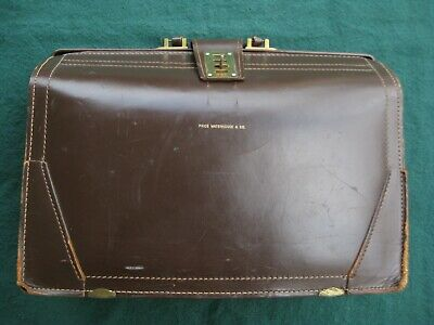 $27 • Buy Vintage Doctor Lawyer Attorney Attaché Briefcase Price Waterhouse & Co. Leather