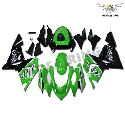 $489.99 • Buy WO Injection Green Black Fairing Kit Fit For Kawasaki 2004 2005 ZX10R ABS H027
