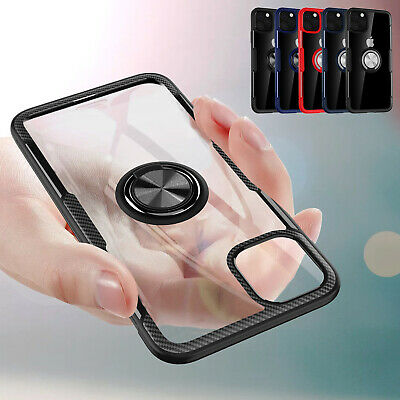 AU10.79 • Buy For IPhone 11 12 Pro Max XR XS 7 8 Clear Back Case With Ring Stand Shockproof
