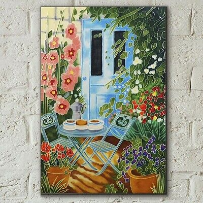 £30.95 • Buy Sunny Breakfast By Judith Yates 8x12 Decorative Ceramic Tile Picture Gift 05919