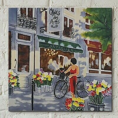 £22.95 • Buy Objets D'Arts Ceramic Picture Tile By Brent Heighton 8x8  Wall Art Gift 05059