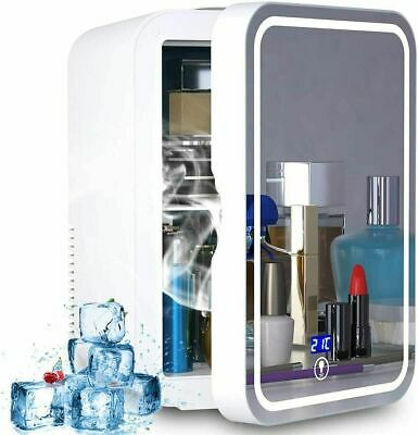 AU86.88 • Buy Mini Makeup Beauty Fridge, 8L Refrigerator, Makeup Mirror Skincare Fridge & LED