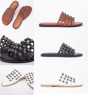 £9.99 • Buy Ladies Womens Stud Detail Cage Summer Slip On Mule Fashion Sandals Shoes Size
