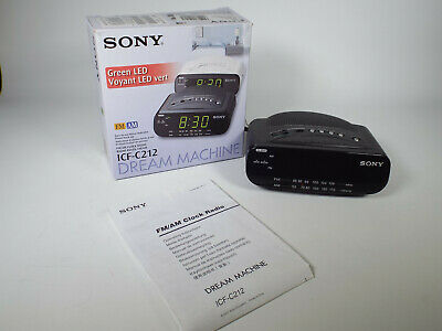 AU49.95 • Buy AS NEW Sony Dream Machine ICF-C212 AM FM Alarm Clock Radio Black Clock Radio LED