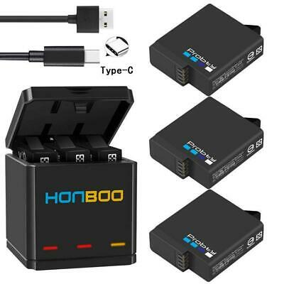 $ CDN27.48 • Buy Probty For GoPro Hero 7 6 5 Black  Triple Battery USB Charger Camera HD Type C