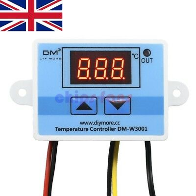 £7.99 • Buy 24V Digital LED Temperature Controller 10A Thermostat Control Switch Probe