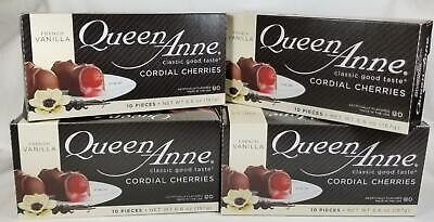 $24.97 • Buy Queen Anne Chocolate Covered Cherries FRENCH VANILLA 10 Pieces X 4 Boxes Candy