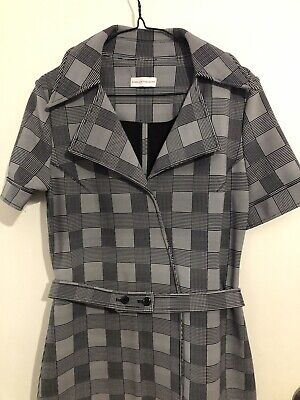 AU150 • Buy Scanlan Theodore 10 Dress New Houndstooth Check Print