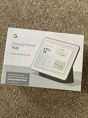 AU90.16 • Buy Google Home Hub - Charcoal Brand New Unopened