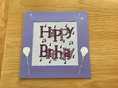 £3.40 • Buy Completed Cross Stitch Birthday Card