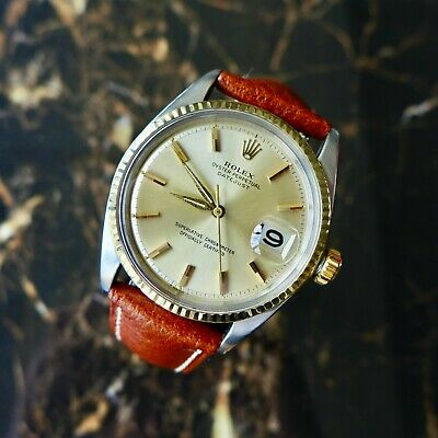 $ CDN6389.74 • Buy A Stunning Gents Vintage 1964 Rolex Oyster Perpetual Datejust Steel & Gold Watch