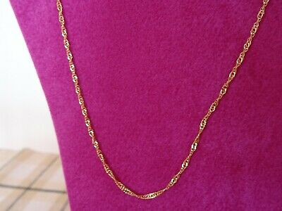 £40 • Buy 9K Yellow Gold Twist Link Necklace, 18 Inches, 0.8 Grams, Stamped 375