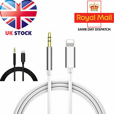 £2.99 • Buy Lighting To 3.5mm Jack AUX Adapter Cable Car Audio For IPhone6 7 8 X XS 11 12 UK